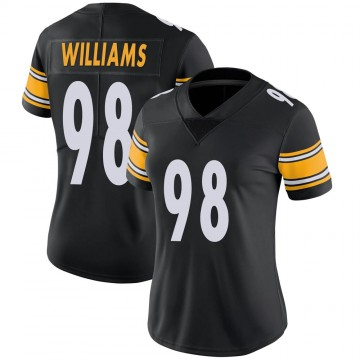 Women's Nike Pittsburgh Steelers Vince Williams Black Team Color Vapor Untouchable Jersey - Limited
