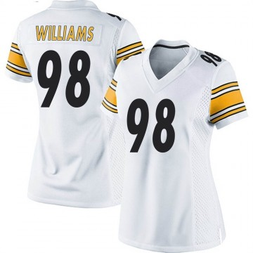 Women's Nike Pittsburgh Steelers Vince Williams White Jersey - Game