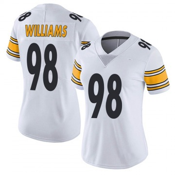 Women's Nike Pittsburgh Steelers Vince Williams White Vapor Untouchable Jersey - Limited