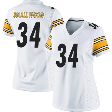 Women's Nike Pittsburgh Steelers Wendell Smallwood White Jersey - Game