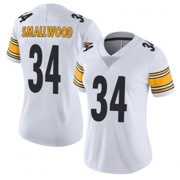 Women's Nike Pittsburgh Steelers Wendell Smallwood White Vapor Untouchable Jersey - Limited