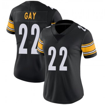 Women's Nike Pittsburgh Steelers William Gay Black 100th Vapor Jersey - Limited
