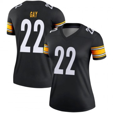 Women's Nike Pittsburgh Steelers William Gay Black Jersey - Legend