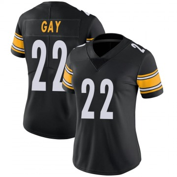 Women's Nike Pittsburgh Steelers William Gay Black Team Color Vapor Untouchable Jersey - Limited