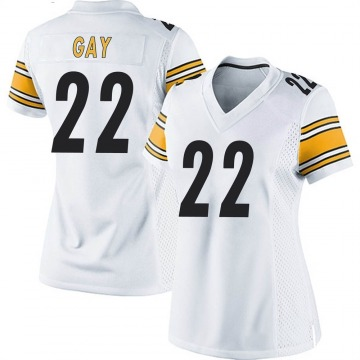 Women's Nike Pittsburgh Steelers William Gay White Jersey - Game
