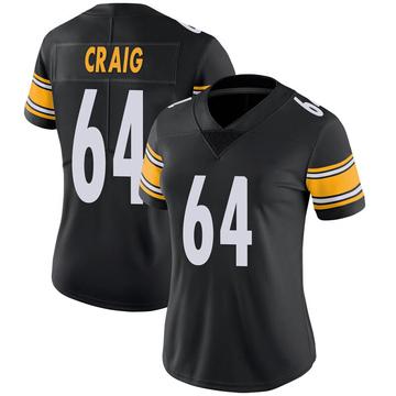 Women's Nike Pittsburgh Steelers Winston Craig Black 100th Vapor Jersey - Limited