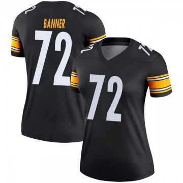 Women's Nike Pittsburgh Steelers Zach Banner Black Jersey - Legend