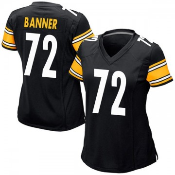 Women's Nike Pittsburgh Steelers Zach Banner Black Team Color Jersey - Game
