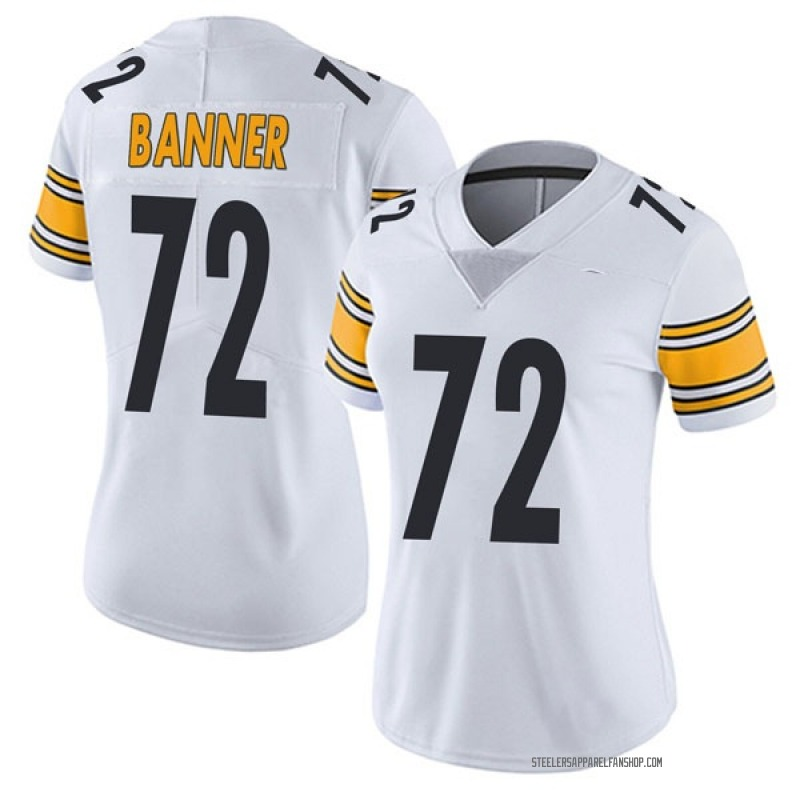 Women's Nike Pittsburgh Steelers Zach Banner White Vapor Untouchable Jersey - Limited