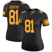 Women's Nike Pittsburgh Steelers Zach Gentry Black Color Rush Jersey - Legend