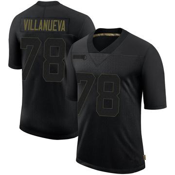 Youth Nike Pittsburgh Steelers Alejandro Villanueva Black 2020 Salute To Service Jersey - Limited