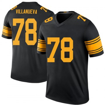 Youth Nike Pittsburgh Steelers Alejandro Villanueva Black Color Rush Jersey - Legend