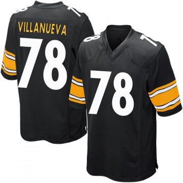 Youth Nike Pittsburgh Steelers Alejandro Villanueva Black Team Color Jersey - Game