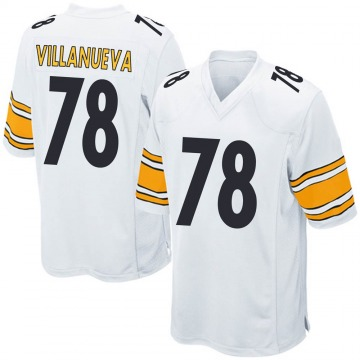 Youth Nike Pittsburgh Steelers Alejandro Villanueva White Jersey - Game