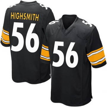Youth Nike Pittsburgh Steelers Alex Highsmith Black Team Color Jersey - Game