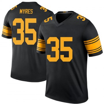 Youth Nike Pittsburgh Steelers Alexander Myres Black Color Rush Jersey - Legend