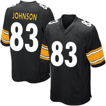 Youth Nike Pittsburgh Steelers Anthony Johnson Black Team Color Jersey - Game