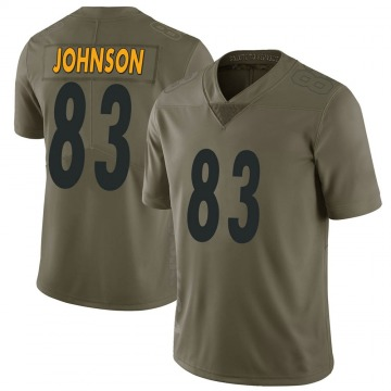 Youth Nike Pittsburgh Steelers Anthony Johnson Green 2017 Salute to Service Jersey - Limited