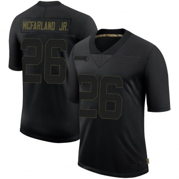 Youth Nike Pittsburgh Steelers Anthony McFarland Jr. Black 2020 Salute To Service Jersey - Limited