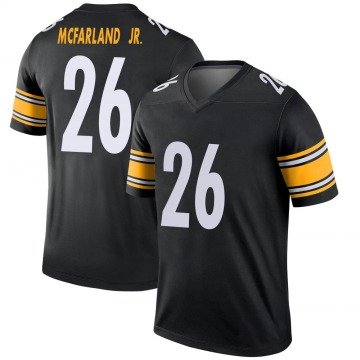 Youth Nike Pittsburgh Steelers Anthony McFarland Jr. Black Jersey - Legend