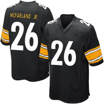 Youth Nike Pittsburgh Steelers Anthony McFarland Jr. Black Team Color Jersey - Game