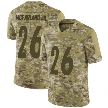 Youth Nike Pittsburgh Steelers Anthony McFarland Jr. Camo 2018 Salute to Service Jersey - Limited