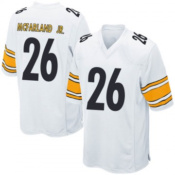 Youth Nike Pittsburgh Steelers Anthony McFarland Jr. White Jersey - Game
