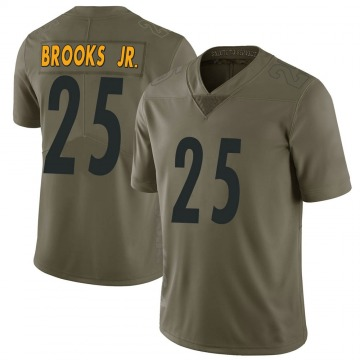 Youth Nike Pittsburgh Steelers Antoine Brooks Jr. Green 2017 Salute to Service Jersey - Limited