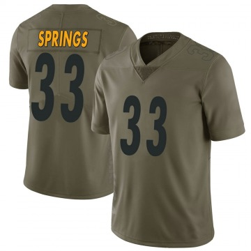 Youth Nike Pittsburgh Steelers Arrion Springs Green 2017 Salute to Service Jersey - Limited