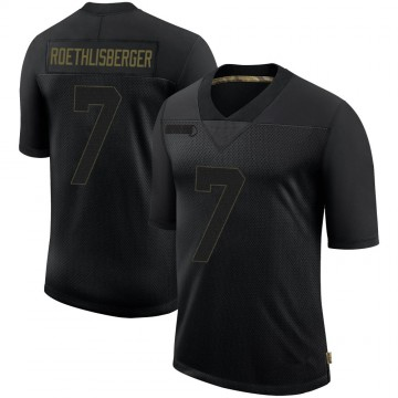 Youth Nike Pittsburgh Steelers Ben Roethlisberger Black 2020 Salute To Service Jersey - Limited