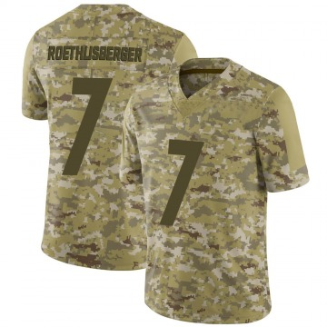 Youth Nike Pittsburgh Steelers Ben Roethlisberger Camo 2018 Salute to Service Jersey - Limited