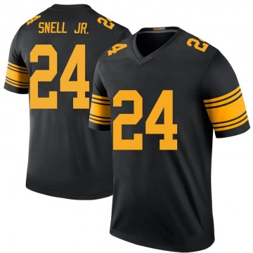 Youth Nike Pittsburgh Steelers Benny Snell Jr. Black Color Rush Jersey - Legend