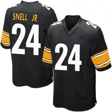 Youth Nike Pittsburgh Steelers Benny Snell Jr. Black Team Color Jersey - Game