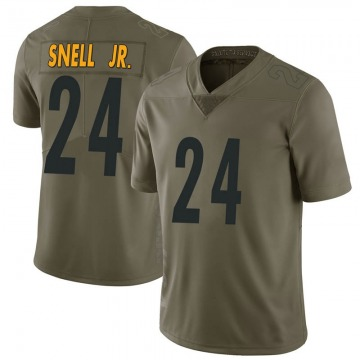 Youth Nike Pittsburgh Steelers Benny Snell Jr. Green 2017 Salute to Service Jersey - Limited