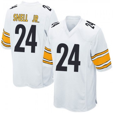 Youth Nike Pittsburgh Steelers Benny Snell Jr. White Jersey - Game