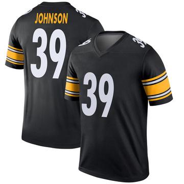 Youth Nike Pittsburgh Steelers Brandon Johnson Black Jersey - Legend