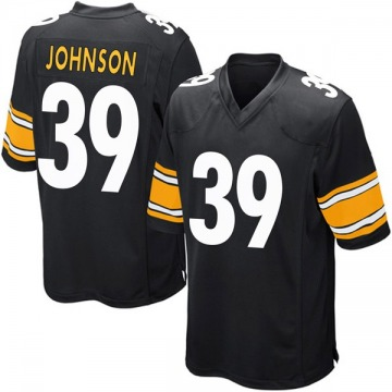 Youth Nike Pittsburgh Steelers Brandon Johnson Black Team Color Jersey - Game
