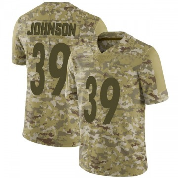 Youth Nike Pittsburgh Steelers Brandon Johnson Camo 2018 Salute to Service Jersey - Limited