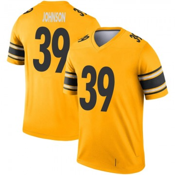 Youth Nike Pittsburgh Steelers Brandon Johnson Gold Inverted Jersey - Legend