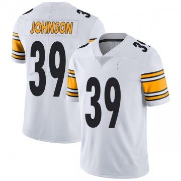 Youth Nike Pittsburgh Steelers Brandon Johnson White Vapor Untouchable Jersey - Limited