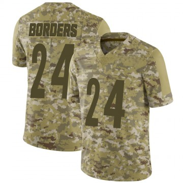 Youth Nike Pittsburgh Steelers Breon Borders Camo 2018 Salute to Service Jersey - Limited