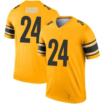 Youth Nike Pittsburgh Steelers Breon Borders Gold Inverted Jersey - Legend