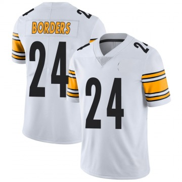 Youth Nike Pittsburgh Steelers Breon Borders White Vapor Untouchable Jersey - Limited
