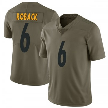 Youth Nike Pittsburgh Steelers Brogan Roback Green 2017 Salute to Service Jersey - Limited