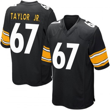 Youth Nike Pittsburgh Steelers Calvin Taylor Jr. Black Team Color Jersey - Game
