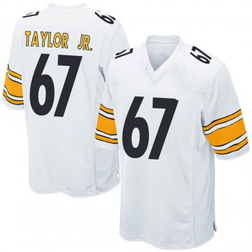 Youth Nike Pittsburgh Steelers Calvin Taylor Jr. White Jersey - Game