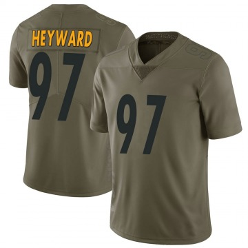 Youth Nike Pittsburgh Steelers Cameron Heyward Green 2017 Salute to Service Jersey - Limited