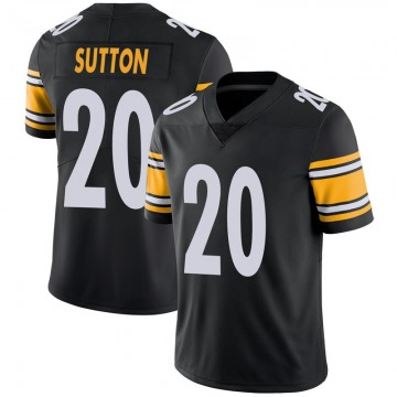 Youth Nike Pittsburgh Steelers Cameron Sutton Black 100th Vapor Jersey - Limited