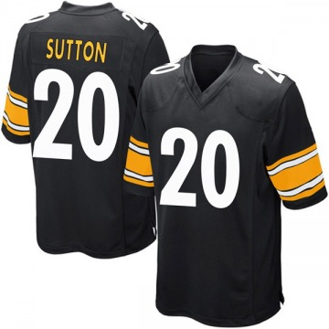 Youth Nike Pittsburgh Steelers Cameron Sutton Black Team Color Jersey - Game
