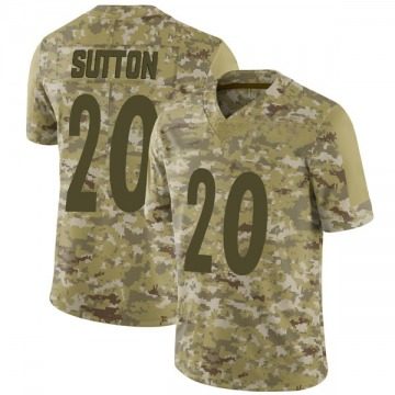 Youth Nike Pittsburgh Steelers Cameron Sutton Camo 2018 Salute to Service Jersey - Limited
